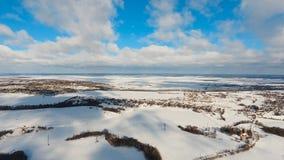 Zima krajobraz z lasem, pole Styczeń 33c krajobrazu Rosji zima ural temperatury Fotografia Royalty Free