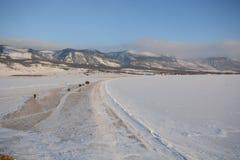 Zima krajobraz z lodem Obraz Stock