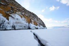 Zima krajobraz z lodem Fotografia Royalty Free