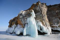 Zima krajobraz z lodem Obrazy Royalty Free
