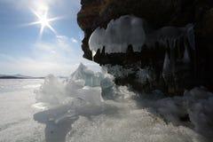 Zima krajobraz z lodem Fotografia Stock