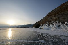 Zima krajobraz z lodem Obraz Royalty Free