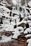 Zima krajobraz z rzeką Obraz Stock