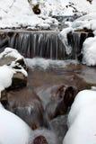 Zima krajobraz z rzeką Obrazy Stock