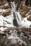 Zima krajobraz zamarznięta kaskada Zdjęcie Royalty Free