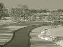 Zima krajobrazy Zdjęcie Royalty Free