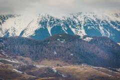 Zima krajobrazy Transylvania fotografia stock