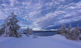 zima krateru jeziora zdjęcia stock