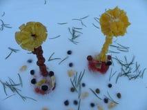 Zima kwiaty Obrazy Royalty Free