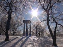 Zima lód fotografia stock