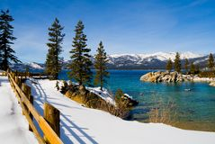 zima lake Obraz Royalty Free