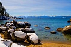 zima lake Zdjęcie Royalty Free