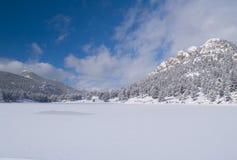 zima lake niebo Zdjęcia Royalty Free