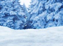 Zima las z śniegiem dużo Fotografia Royalty Free