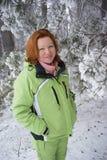 zima lasowa kobieta Obrazy Royalty Free
