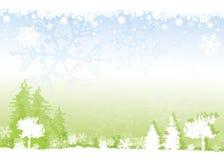 Zima lasu tło Zdjęcia Royalty Free