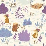 Zima lasu wzór ilustracja wektor