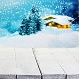 Zima lub boże narodzenia reklamuje tło Fotografia Stock
