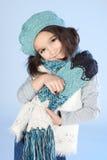 Zima mała Dziewczyna Fotografia Royalty Free
