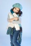 Zima mała dziewczynka Fotografia Stock