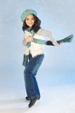 Zima mała dziewczynka Obraz Royalty Free