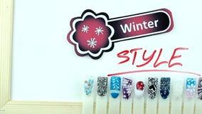Zima manicure i majcher zbiory