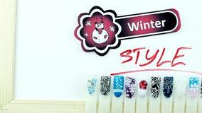 Zima manicure'u i bałwanów styl zbiory