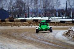 Zima motorowy krzyż w Tver Fotografia Stock