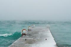 Zima na Czarnym morzu Obrazy Royalty Free