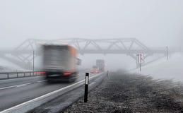 Zima na drodze Fotografia Royalty Free