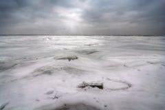 Zima Na Jeziornym Erie Obraz Stock