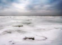 Zima Na Jeziornym Erie Obrazy Stock