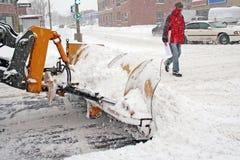 Zima na miasteczku. obrazy royalty free