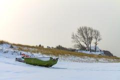 Zima na morza bałtyckiego wybrzeżu w Ahrenshoop, Niemcy Zdjęcie Stock