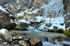 Zima nad dolomitami, Włochy Obrazy Royalty Free