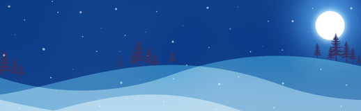 zima nagłówka banner Obrazy Royalty Free