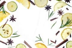 Zima napoju składników gorący układ zdjęcie royalty free