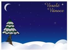 Zima nieba veselé vánoce Obrazy Royalty Free
