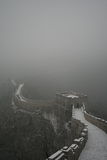 Zima śnieg na wielkim murze Zdjęcie Stock
