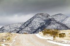 Zima śnieg w Arizona dragonu górach Fotografia Stock