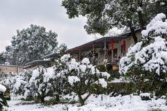 Zima śniegu sceneria Obrazy Stock