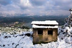 Zima śniegu sceneria Zdjęcie Stock