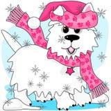 Zima śniegu sztuka Zdjęcia Royalty Free