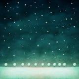 Zima noc tło Obrazy Stock
