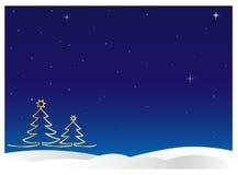 Zima nocne niebo Zdjęcie Stock
