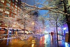 Zima opad śniegu w Nowy Jork Obraz Royalty Free