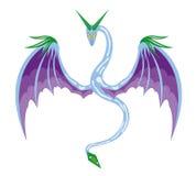 Zima oskrzydlony wąż Zdjęcie Royalty Free