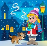 Zima osoby kreskówki wizerunek 2 Zdjęcie Royalty Free