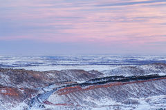 Zima półmrok nad Kolorado obrazy royalty free