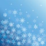 Zima płatek śniegu lub śnieg Zdjęcia Stock